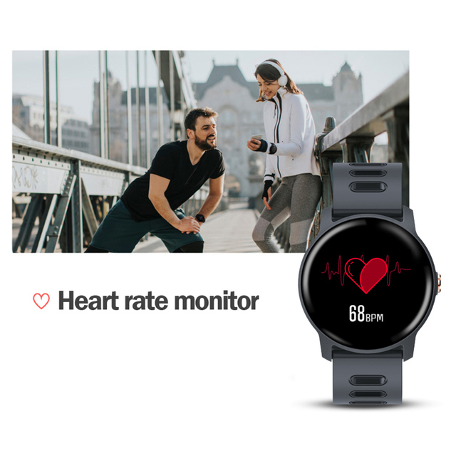 2019 New Men Smart Watch S08 Fitness Tracker Heart Rate Monitor Pedometer IP68 Waterproof Women Smartwatch For Android IOS Phone 4