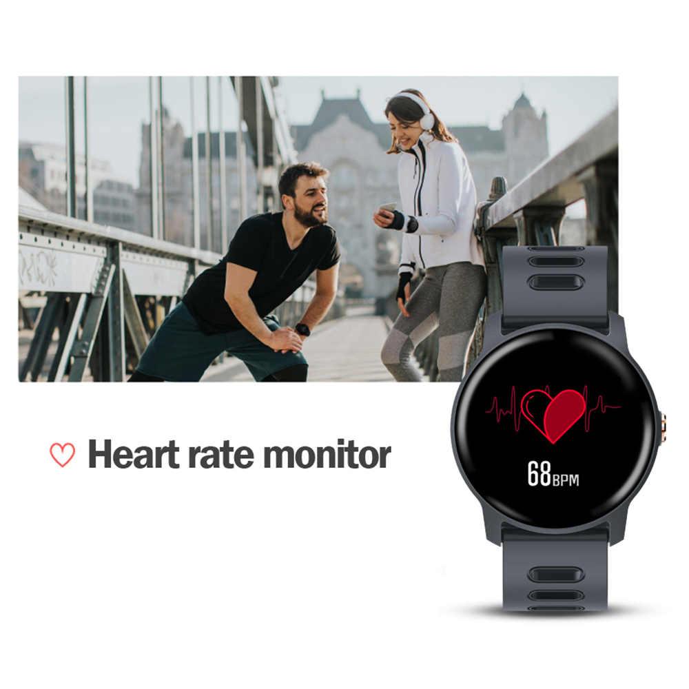 SENBONO Men ใหม่สมาร์ทนาฬิกาฟิตเนส Tracker Heart Rate Monitor Pedometer IP68 กันน้ำผู้หญิง S08 Smartwatch สำหรับ Android IOS