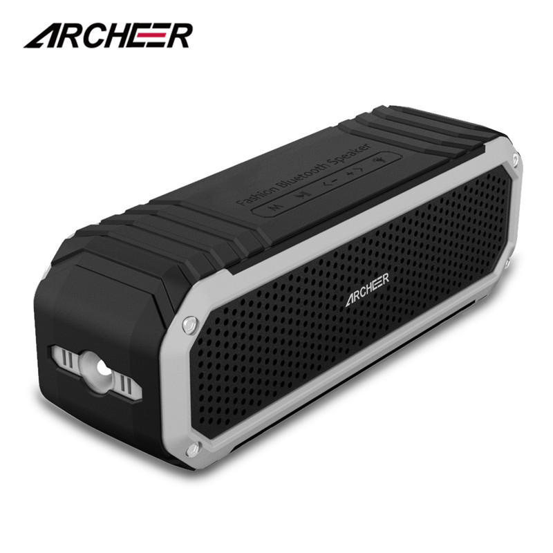 Original ARCHEER Waterproof Wireless Bluetooth 4.0 Speaker Shower Speaker Outdoor Sport Speaker with Flashlight Dual 5W Drivers speakstick waterproof bluetooth shower speaker talk wireless