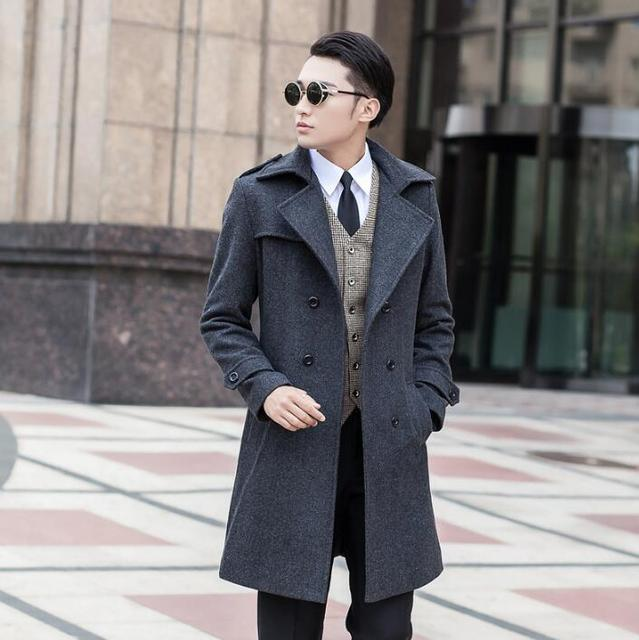 cae6200caae Jackets mens stylish winter coats cashmere coat overcoat double breasted coat  men wool   blends manteau