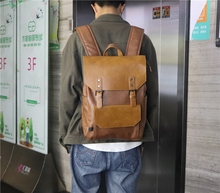 Oriental Element PU Leather Rucksack Style Backpack for Men School College Casual Travel Mochila El Hombre Carteira