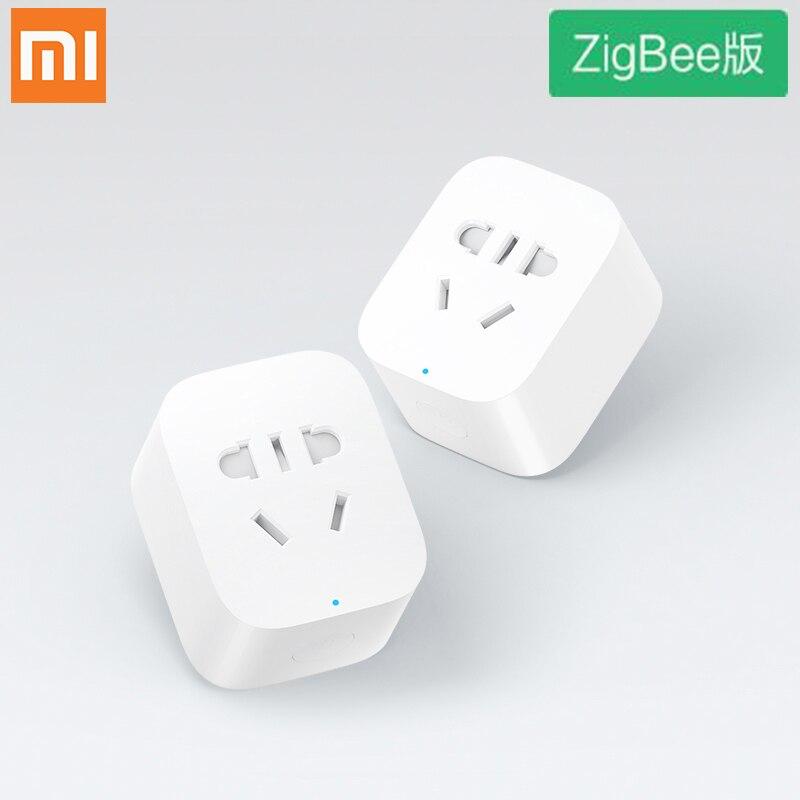 Xiaomi ZigBee Smart Socket Mi Zigbee WiFi APP Wireless Control Switches EU US AU Timer Plug Power Charger Android IOS