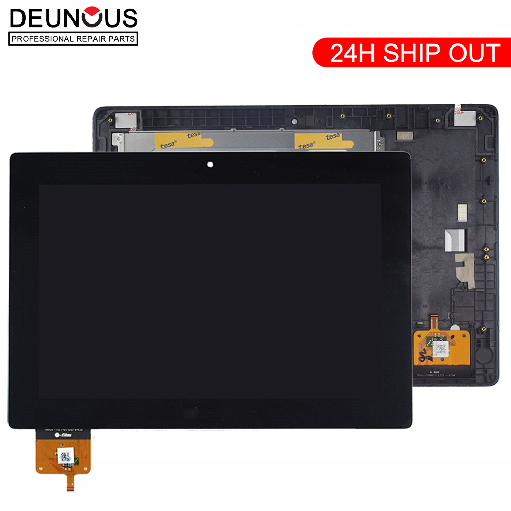 New 10.1 Inch For Lenovo IdeaTab S6000 BP101WX1-206 LCD Display Panel Monitor With Touch Screen Digitizer Sensor Assembly +Frame