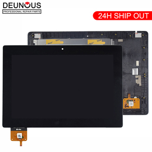 New 10.1 inch For Lenovo IdeaTab S6000 BP101WX1-206 LCD Display Panel Monitor with Touch Screen Digitizer Sensor Assembly +Frame(China)