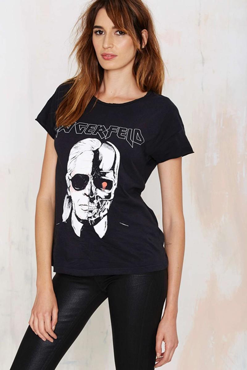 HTB1SS.TMXXXXXcWXFXXq6xXFXXXg - New Skeleton Head Printed Tee In Black Zombie Skull Punk Rock