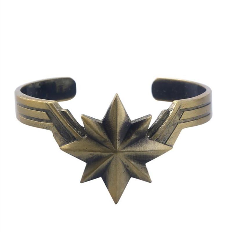 Avengers Endgame Superhero Captain Marvel Metal Bracelet Cosplay Wrist Strap Hand Chain Prop