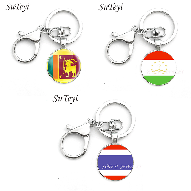 Leather Keyring Engraved Irkutsk City Russia Flag