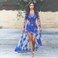 Вивиан Люкс 2015 Новая Мода Sexy See Through Длинные Пром Платья Иллюзия Спинки Вечернее Платье Бесплатная Доставка # CP003