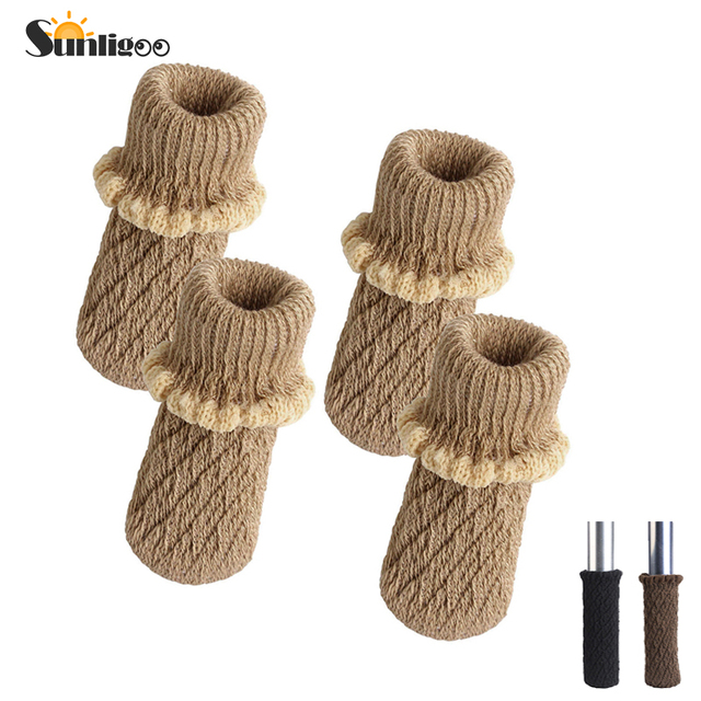 Knitting Wool Furniture Leg Socks Chair Table Protector Pads Floor Protectors