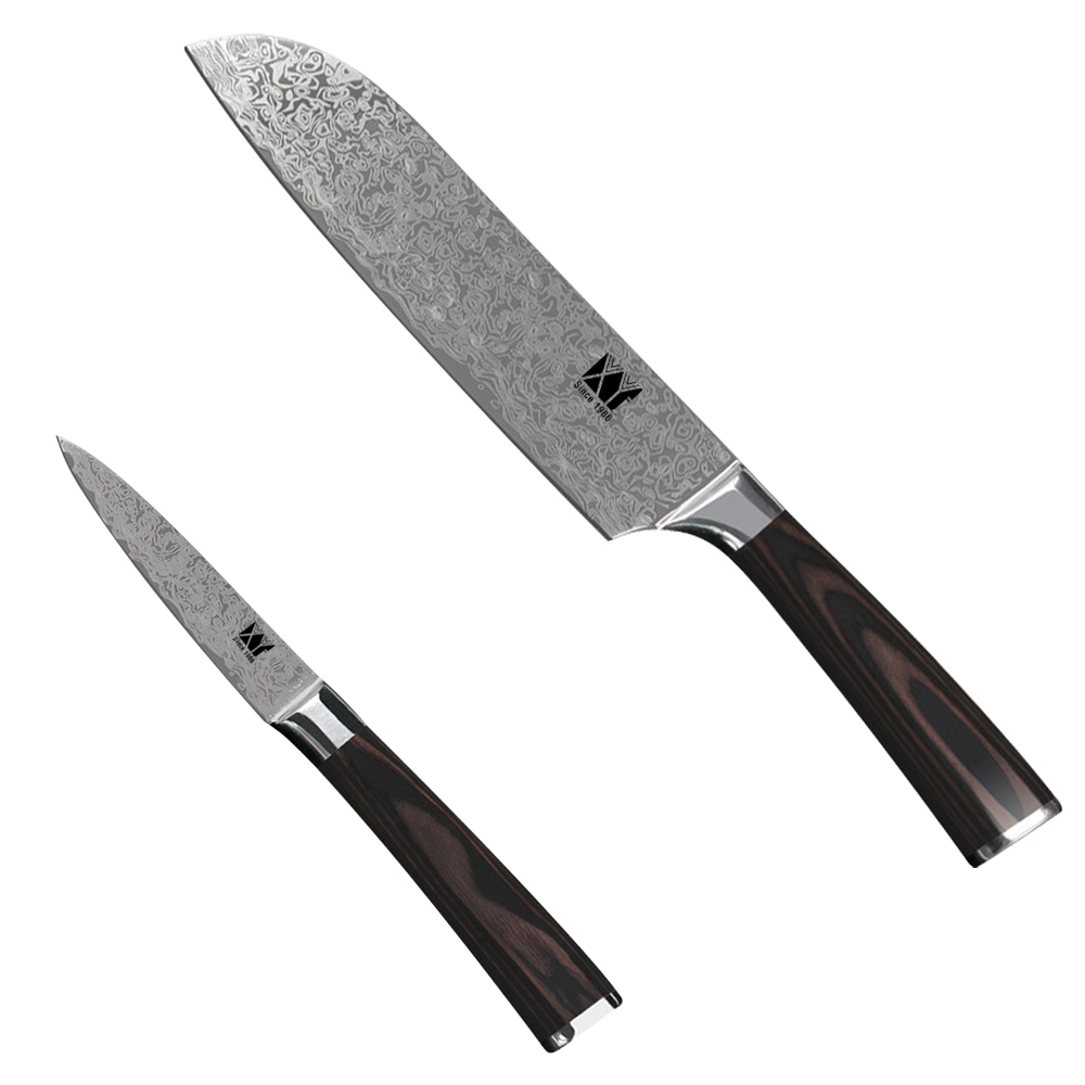 №XYJ Good Quality Kitchen 7Cr17 Pattern Steel Knives 7 Inch Japanese ...