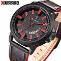 CURREN 8228 Casual Assista Men Sports Relógios Top Marca de Luxo Analógico Quartz Leather Strap Militar Relógio de Pulso Relogio masculino