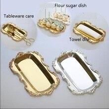 Серебряная и позолоченная прямоугольная сковорода для торта с бисером вокруг свадьбы подставка для торта стойка для свадебного украшения FT045