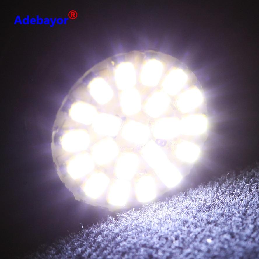 100X1156 PY21W P21W R5W R10W RY10W 3020 22 SMD 1206 Автомобильный светодиодный стоп-сигнал поворота светильник Автомобильный Клин лампа светильник чистый белый Адебайор