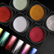 2g Magic Mirror powder 16 colors Chrome Nail Glitter Effect changes with color of base coat High quality pigment NMJ
