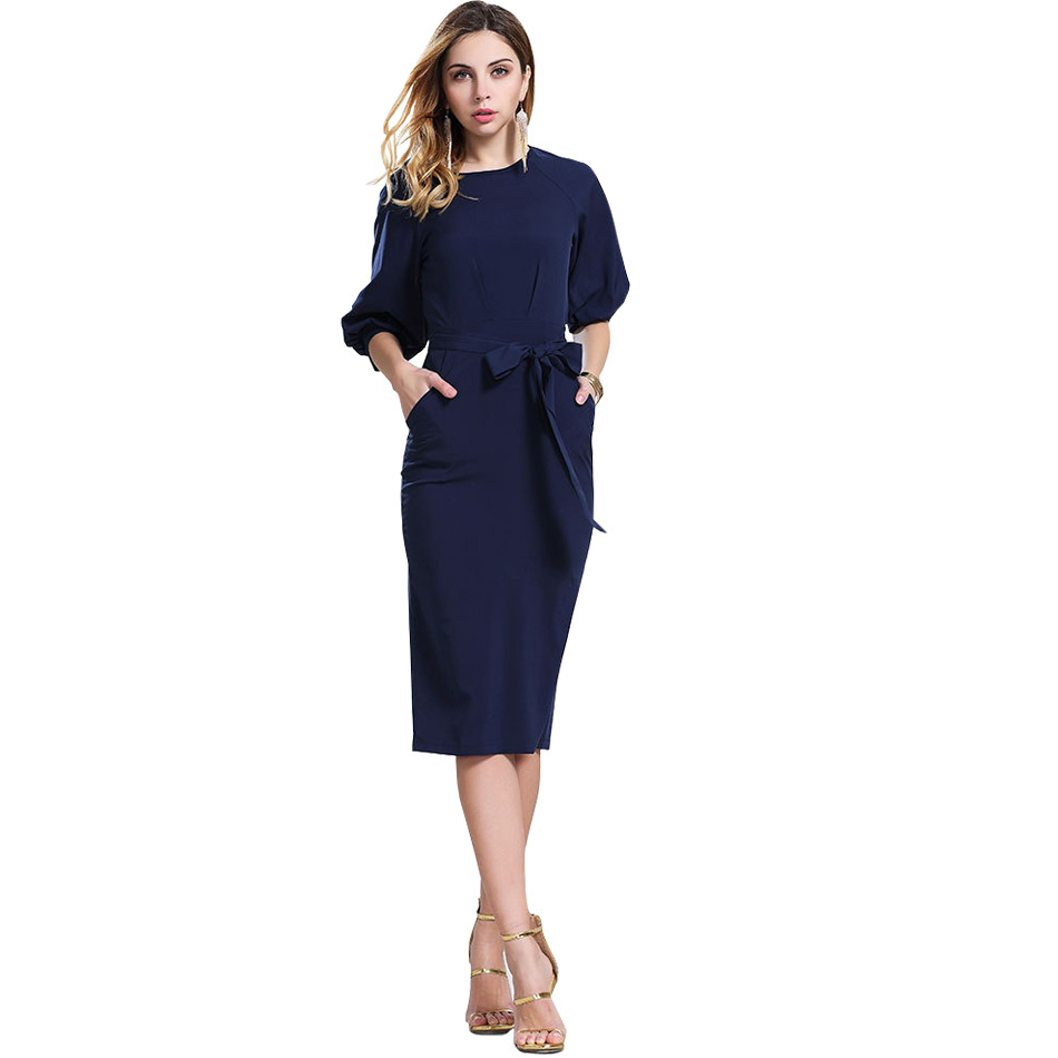 Popular Navy Blue Dresses with Sleeves-Buy Cheap Navy Blue Dresses ...