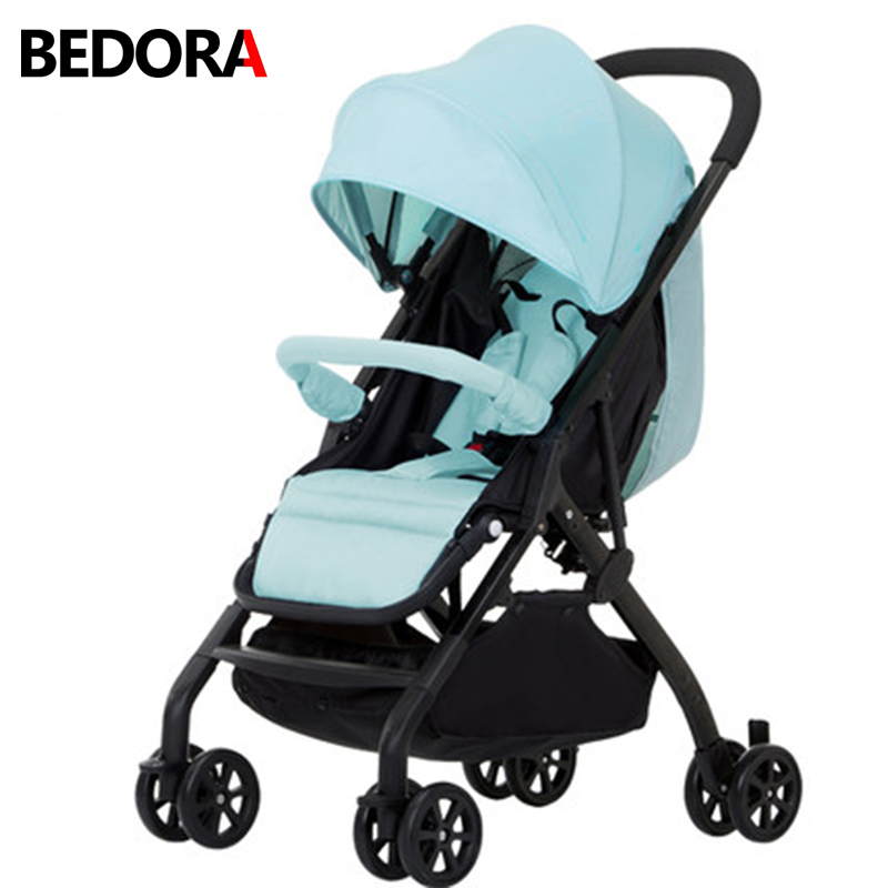 Bedora stroller lightweight portable folding umbrella car can sit or lie stroller baby child trolley Ultra-lightweight stroller 2017 new design baby double seats stroller ultra light portable car umbrella folding child twins trolley cheap price poussette
