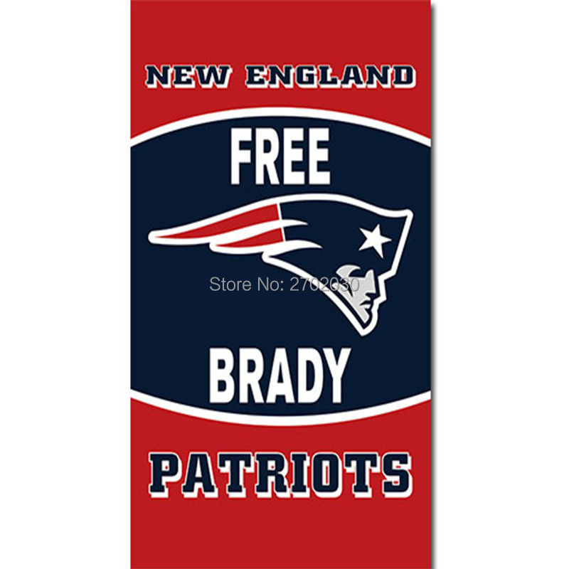 Free Brady New England Patriots Flag Banners Decoration Football Team 3ft X 5ft Banner Super Bowl Fan Pat Patriot Flag Tom Brady