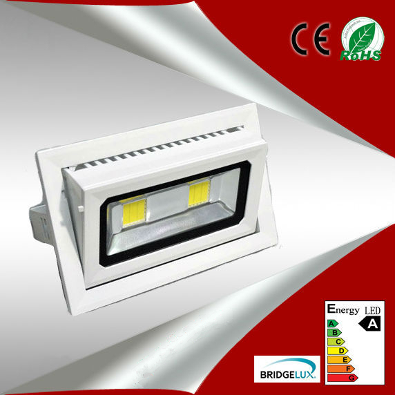 High power Square 45W COB led downlight rotate the angle indoor ...