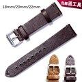 Pulseira de couro marrom pulseira de couro genuíno pin fivela casuais 18mm/20mm/22mm pulseira de couro feitos à mão para Breitling