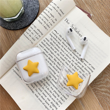 Lovely Airpods 3D Cartoon transparent Case for Apple Bluetooth Headphones 1/2 Charging Box New Anti-Fall Dust Skin Accessories