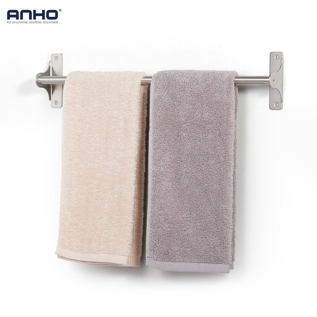 Bath towel holder Basket Stainless Steel 304 Single Bath Towel Holder Wall Tube Single Bathroom Towel Bar Holder Storage Rack Accessories 55cm Aliexpress Stainless Steel 304 Single Bath Towel Holder Wall Tube Single