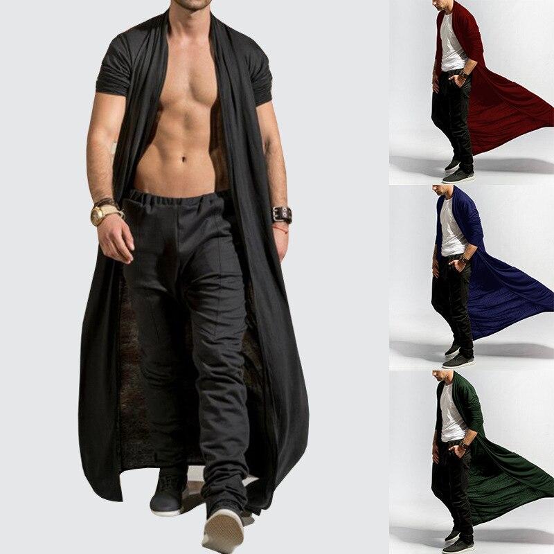 2018 Hot Vintage Trenchcoat Mannen Herfst Mode Solid Dunne Heren Lange Jassen Casual Plus Size Hip Hop Vest Mannelijke Trenchcoat Snelle Warmteafvoer