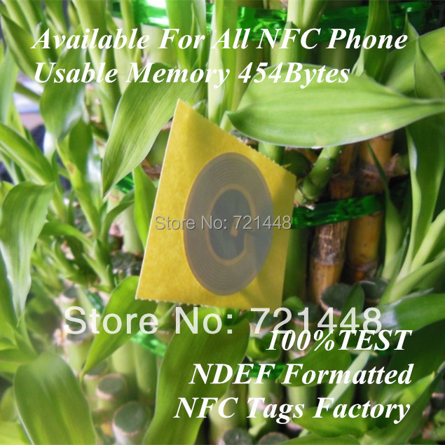 100pcs TOPAZ512 NFC tag  Available For All NFC Phone Usable Memory 454 bytes NFC Forum Type 1 tag   BCM20203T512  NFC label