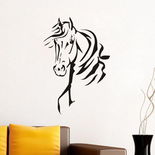 Horse Head Wall Stickers Home Decor Living Room Bedroom Decor Horse Cowboy Animal Vinyl Decals Home Decoration Accessories