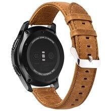 НОСО классический Frontier Стиль кожаный браслет для samsung Шестерни S3 коричневый ремешок с пряжкой для смарт-часы