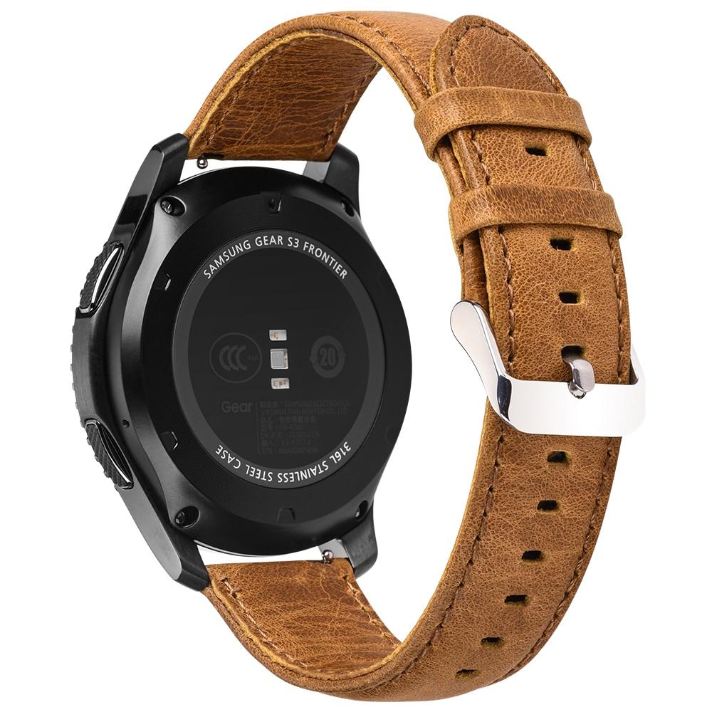 imágenes para Hoco classic frontera estilo pulsera de cuero genuino para samsung gear s3 correa marrón hebilla de smart watch