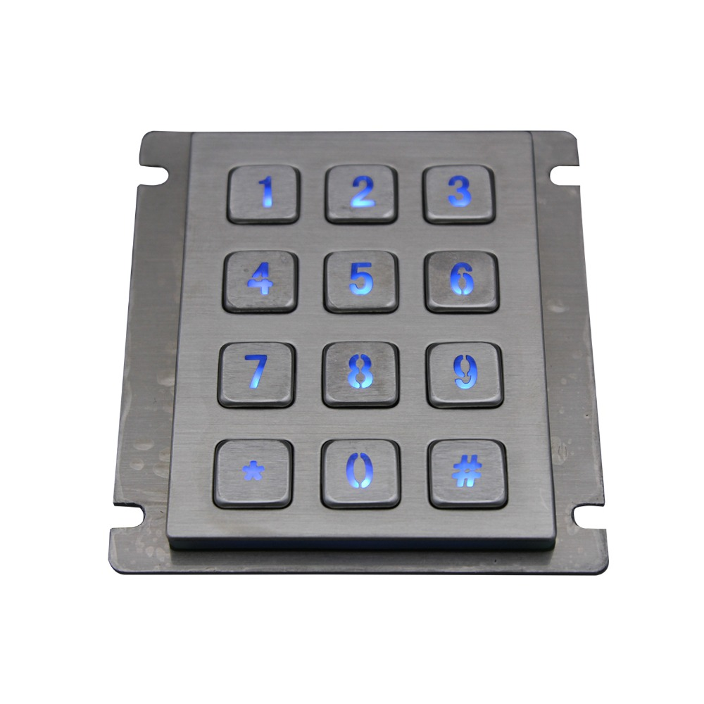 Keyboard, Stainless, Metal, Steel, Led, Backlight