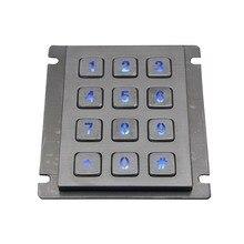 12 ключей из нержавеющей стали, с подсветкой Usb клавиатура промышленный металлический клавиатура светодиодная подсветка металлическая цифровая клавиатура
