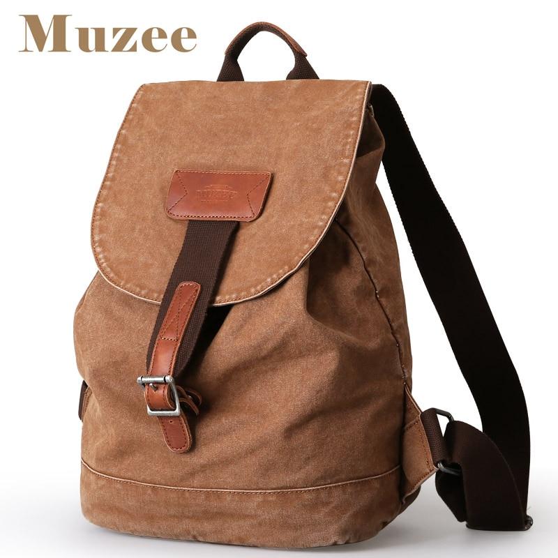Muzee nouveau rétro hommes sac à dos toile hommes voyage sac à dos loisirs étudiant sac à dos hommes et femmes 15.6 pouces sac à dos pour ordinateur portable