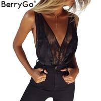Berrygo مثير الرباط للتعديل حزام من قطعة الصدرية الحرير شبكة عارية الذراعين ملابس داخلية 2017 الصيف داخلية النساء العشير