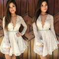 2016 beach party dress sexy v-образным вырезом кружева summerdress shortdress женщины необеспеченные vintagedress vestidos