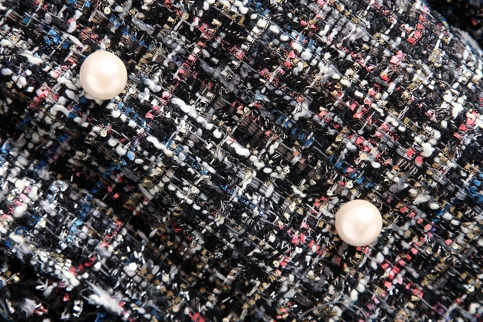 Fresh style Spring Autumn female casual jacket coat hand tassel loose coat checkered Tweed coat jacket Fresh style Spring/Autumn female casual jacket coat hand-tassel loose coat checkered Tweed coat jacket lapel thick jacket