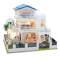 Assemble Diy Doll House Toy Wooden Miniatura Doll Houses Miniature Dollhouse Toys With Furniture Led Lights Kids Birthday Gifts
