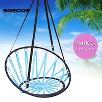 Round Hammock Outdoor Indoor Dormitory Bedroom Children Swing Bed Kids Adult Swinging Hanging Single Chair Hammock