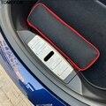 Для Tesla Model 3 2018 2019 защитная накладка из нержавеющей стали с внутренним бампером накладка на багажник задний порог прикрытие потертостей авт...