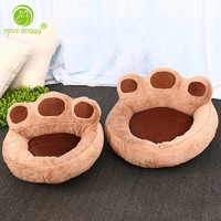 Cute Paw Cat Dog Pet House Sofa Bed Kennel Winter Fleece Warm Dog Puppy Mat Cushion Nest Funny Chihuahua Dog House Bed