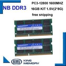KEMBONA darmowa wysyłka najlepsza cena sodimm notebook ram laptop DDR3 16GB (zestaw 2 sztuk laptop ddr3 8 gb) PC3 12800 204pin pamięci ram w RAM od Komputer i biuro na