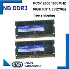 Sodimm Memory Laptop Ddr3 Notebook Ram Pc3-12800-204pin-Ram 16GB 8GB Kit 2pcs KEMBONA