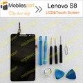Lenovo s8 lcd display + touch screen 100% original substituição digitador assembléia para lenovo s8/lenovo s898t telefone celular navio livre