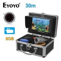 EYOYO Original 7Full Silver Video Fish Finder HD 1000TVL 30M Underwater Fishing Camera Video Recording Infrared