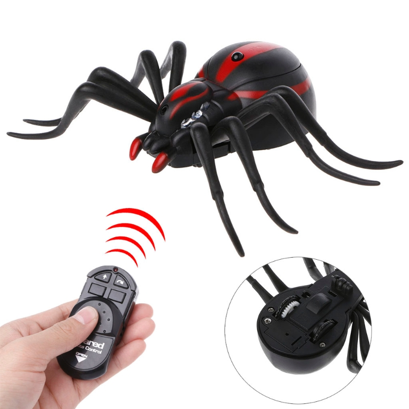 Remote Control Realistic Fake Spider RC Prank Insect  Scary Trick Toy 95AE