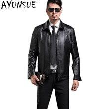 AYUNSUE/роскошная кожаная куртка из натуральной кожи, мужская куртка, черные Куртки из натуральной кожи, Chaqueta Cuero Hombre, большие размеры 4XL, FYY579