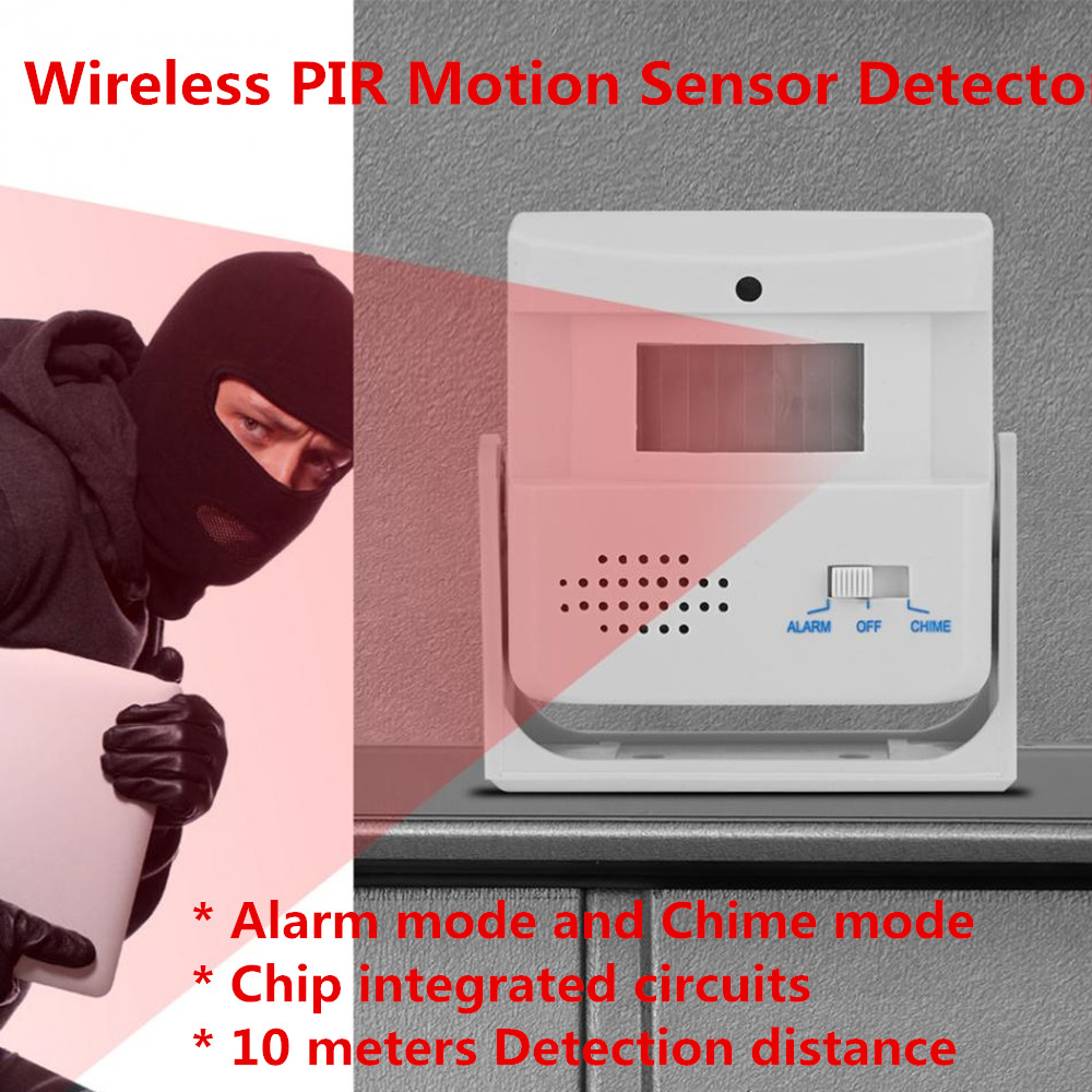 Wireless PIR Motion Sensor Detector Entry Door Bell Guest Welcome Chime Alarm Security Doorbell Infrared Detector For Shop Entry m v3 wireless door pir motion sensor doorbell automatic door bell audio player welcome chime door bell detector alarm