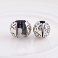 Fits Original European Bracelets Flower Charm Sterling Silver Clip Beads For Women DIY Jewelry Charms Wholesale