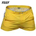 Shorts homens tqqt 4 peças/lote com painéis de cintura baixa patchwork curto skinny shorts com bolsos prefeito curto misturar cores 5p0644