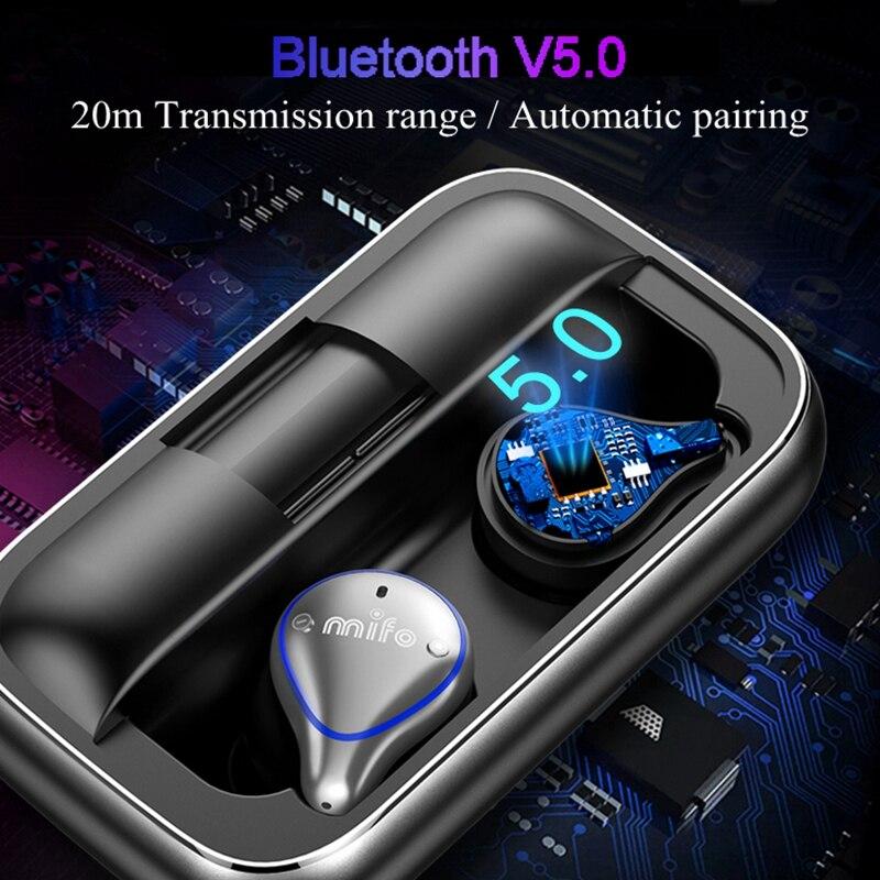 Bluetooth 5.0 écouteurs sans fil véritables étanche écouteurs Bluetooth Sport 3D Son Stéréo Écouteurs avec Boîte De Charge pour Téléphone - 2